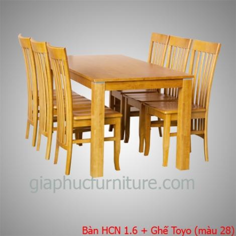 Bàn HCN 1.6 + Ghế Toyo