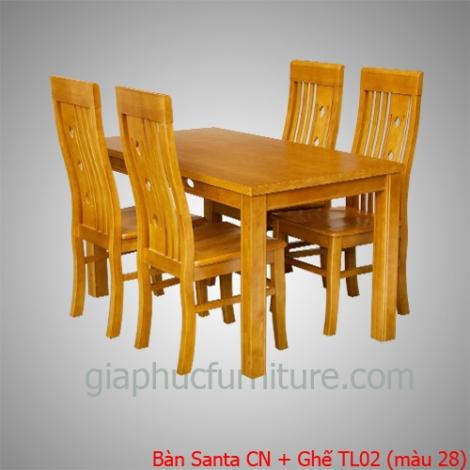 Bàn Santa CN + Ghế TL02