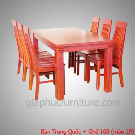 Bàn Trung Quốc + Ghế 108