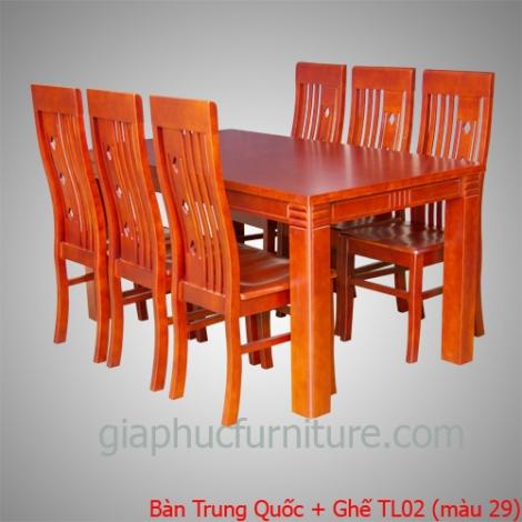 Bàn Trung Quốc + Ghế TL02