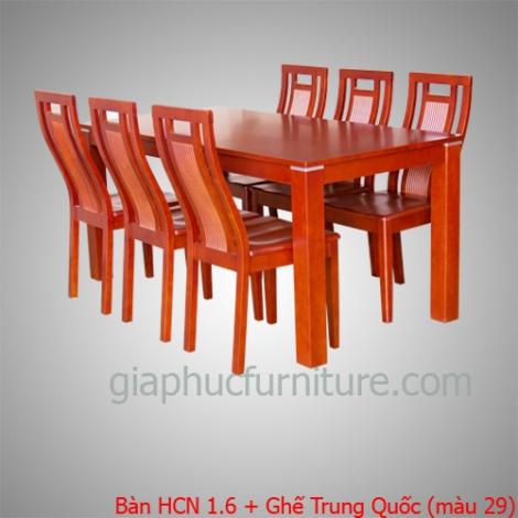 Bàn HCN 1.6 + Ghế Trung Quốc